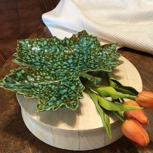 Decorative leaf plate. A